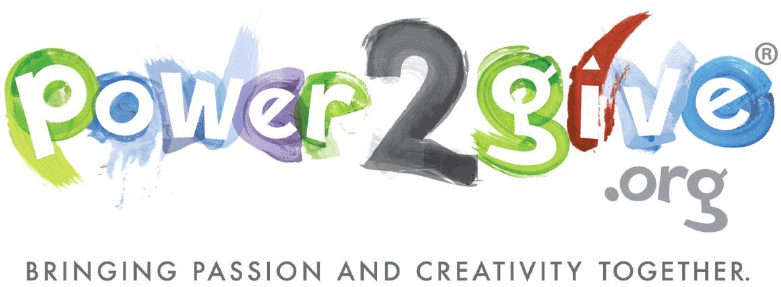 Logo of Power2Give.org, a crowdsourcing organization the supports arts organizations.