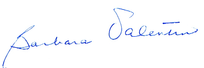 Barbara Valentino's signature