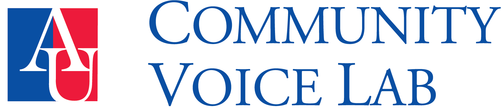 American University Community Voice Lab Logo