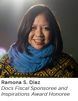 Image of Ramona Diaz, documentary filmmaker and Docs in Progress fiscal sponsoree and Inspiration Award honoree