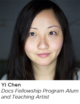 Image of Yi Chen, documentary filmmaker and alum of Docs In Progress' Fellowship Program and former teaching artist