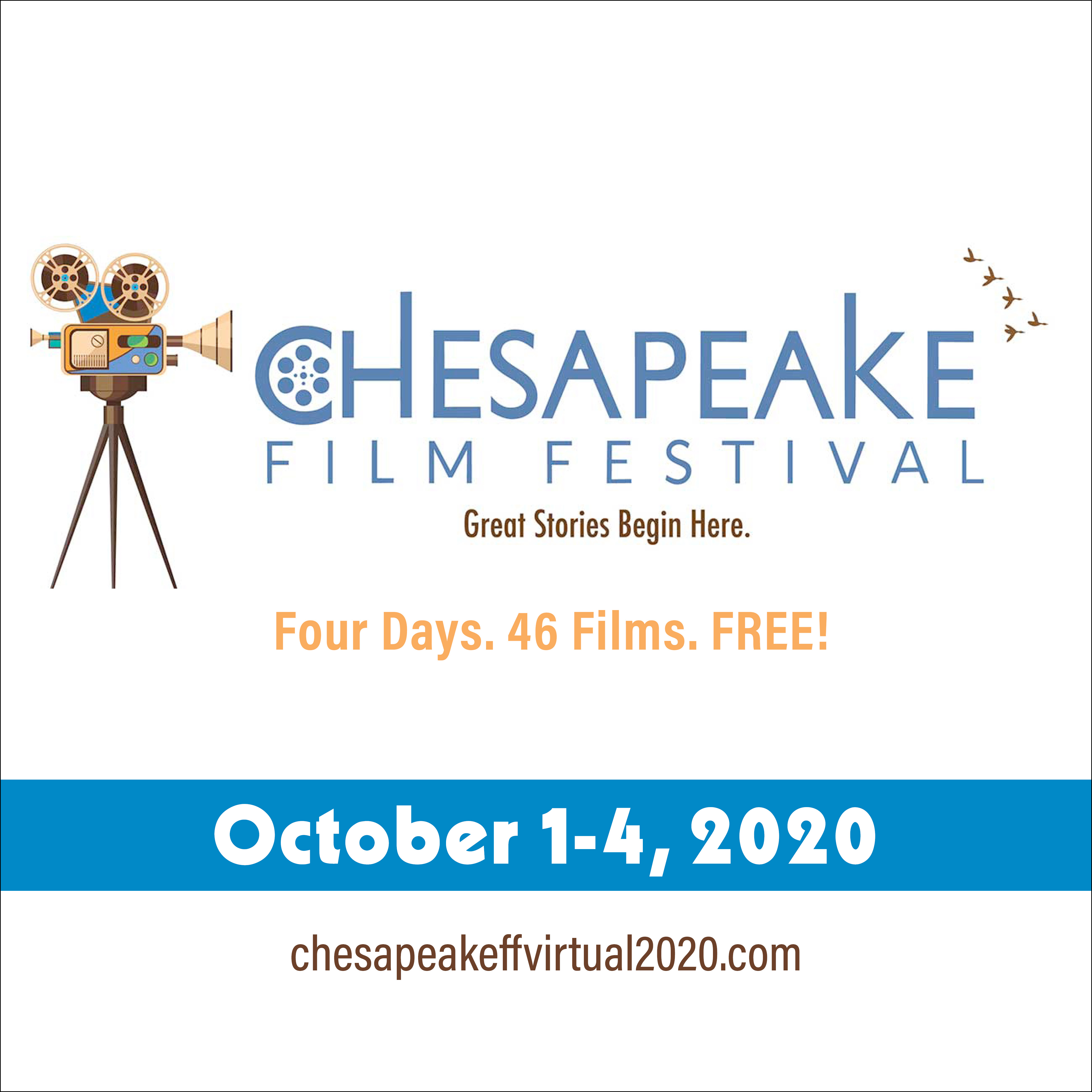 Logo of the Virtual Chesapeake Film Festival 2020