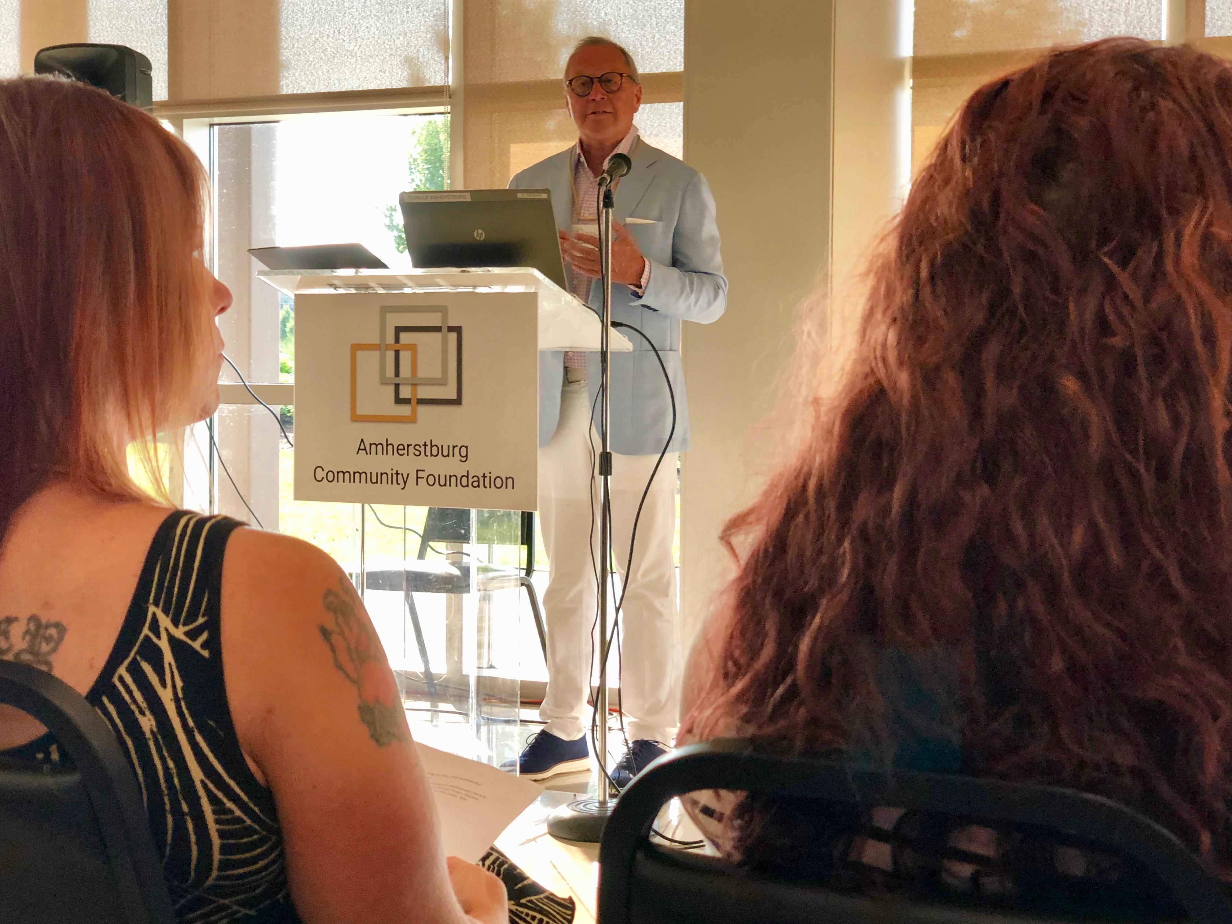Richard Peddie speaks at the ACF launch