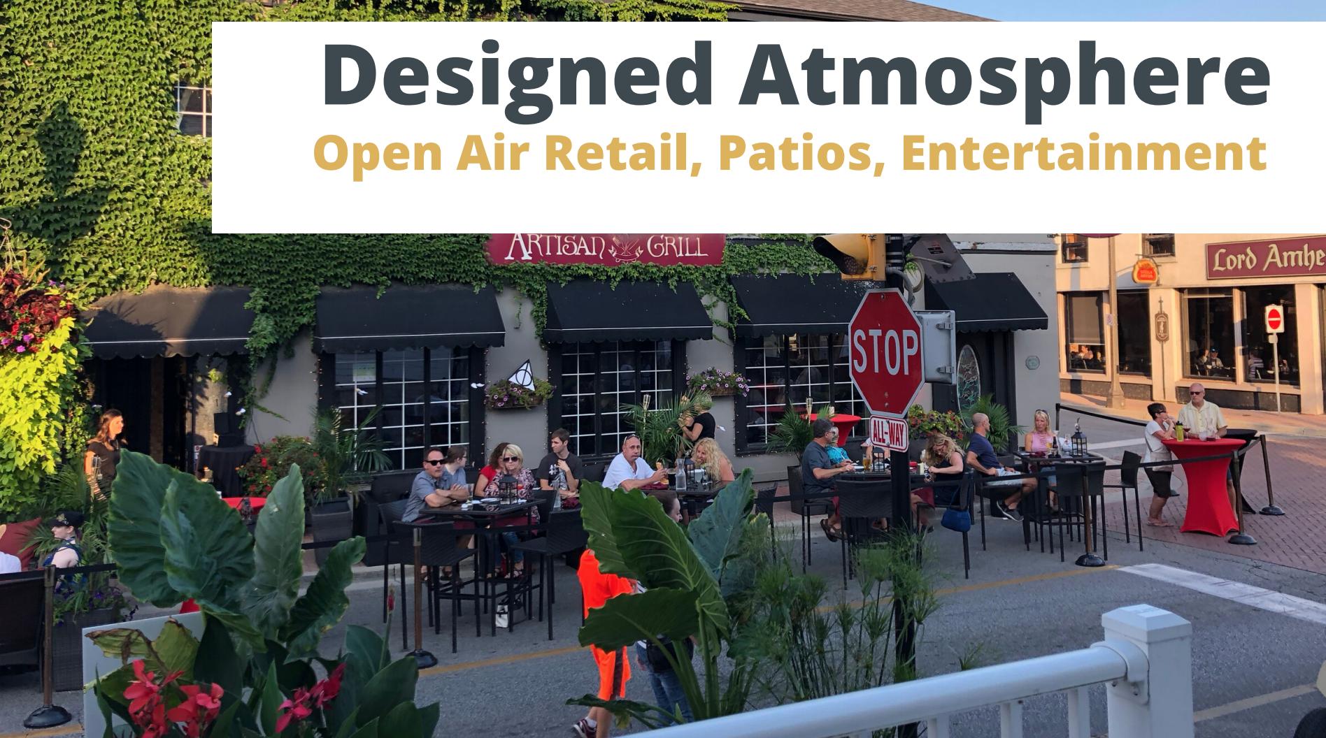 A bustling street patio in Amherstburg