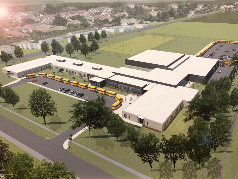 A rendering of the new High School for Amherstburg