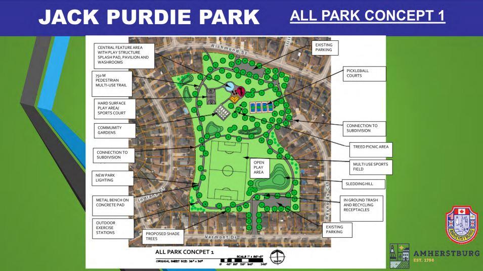 Concept Plan 1 for Jack Purdie Park