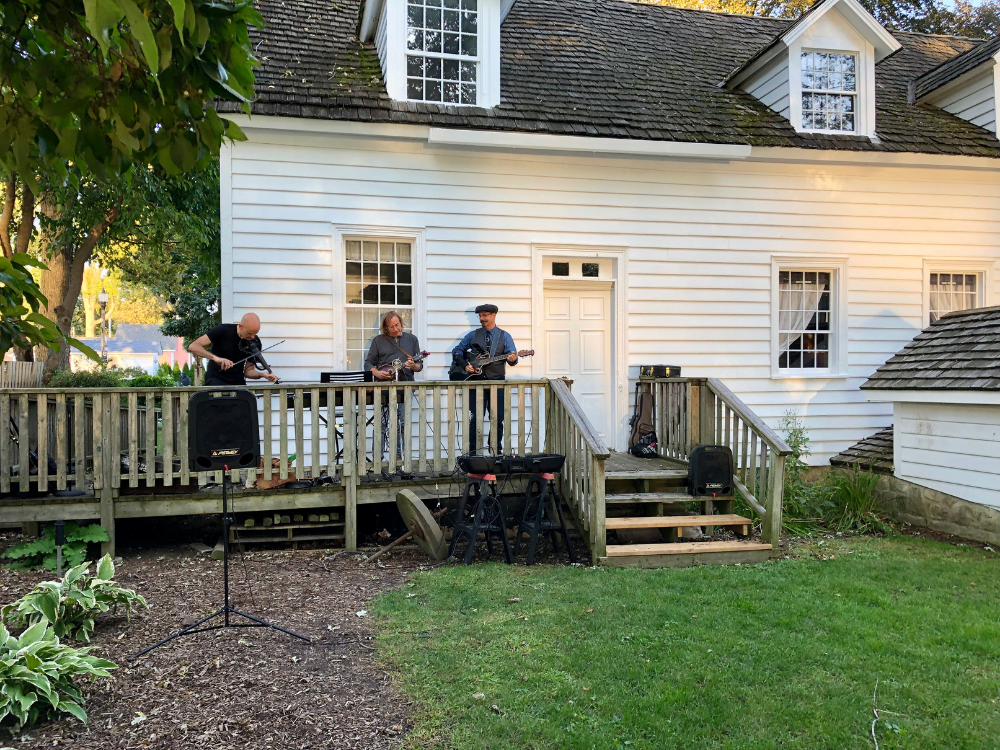 A band plays at Music Off The Back Porch at Park House Museuem