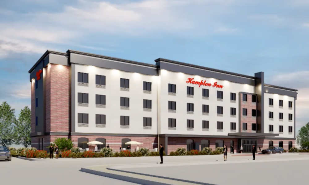 A rendering of a new hotel planned for downtown Amherstburg