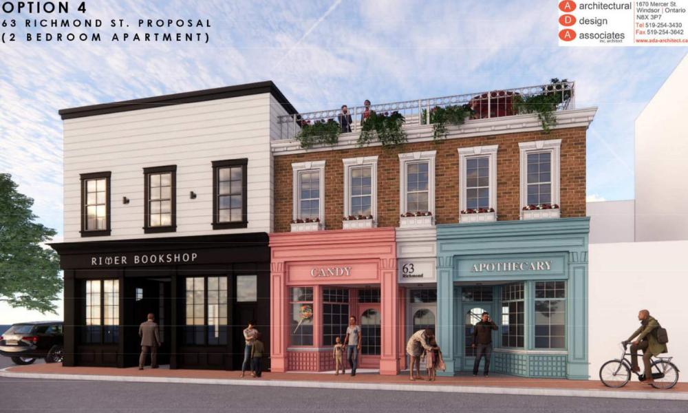 A rendering of the development at 63 Richmond in Amherstburg.