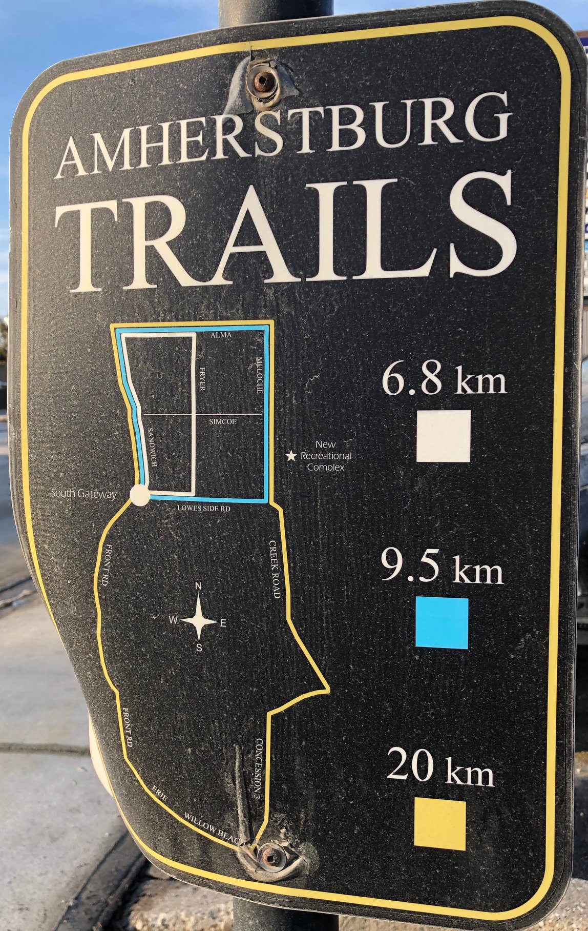 Amherstburg Trail Sign