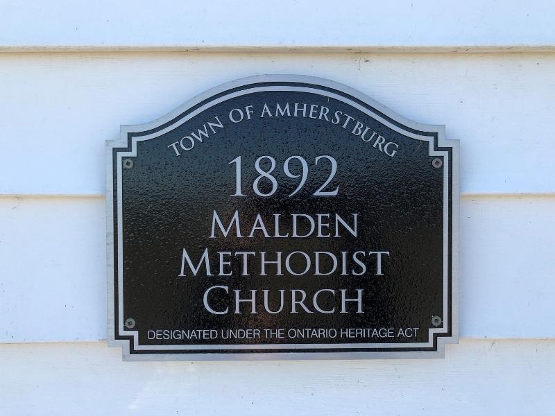 The Little White Church in Amherstburg has been a landmark since 1892.