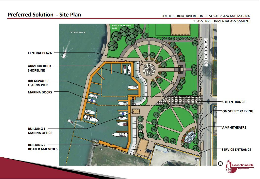 The preferred solution identified for the former Duffy's Property