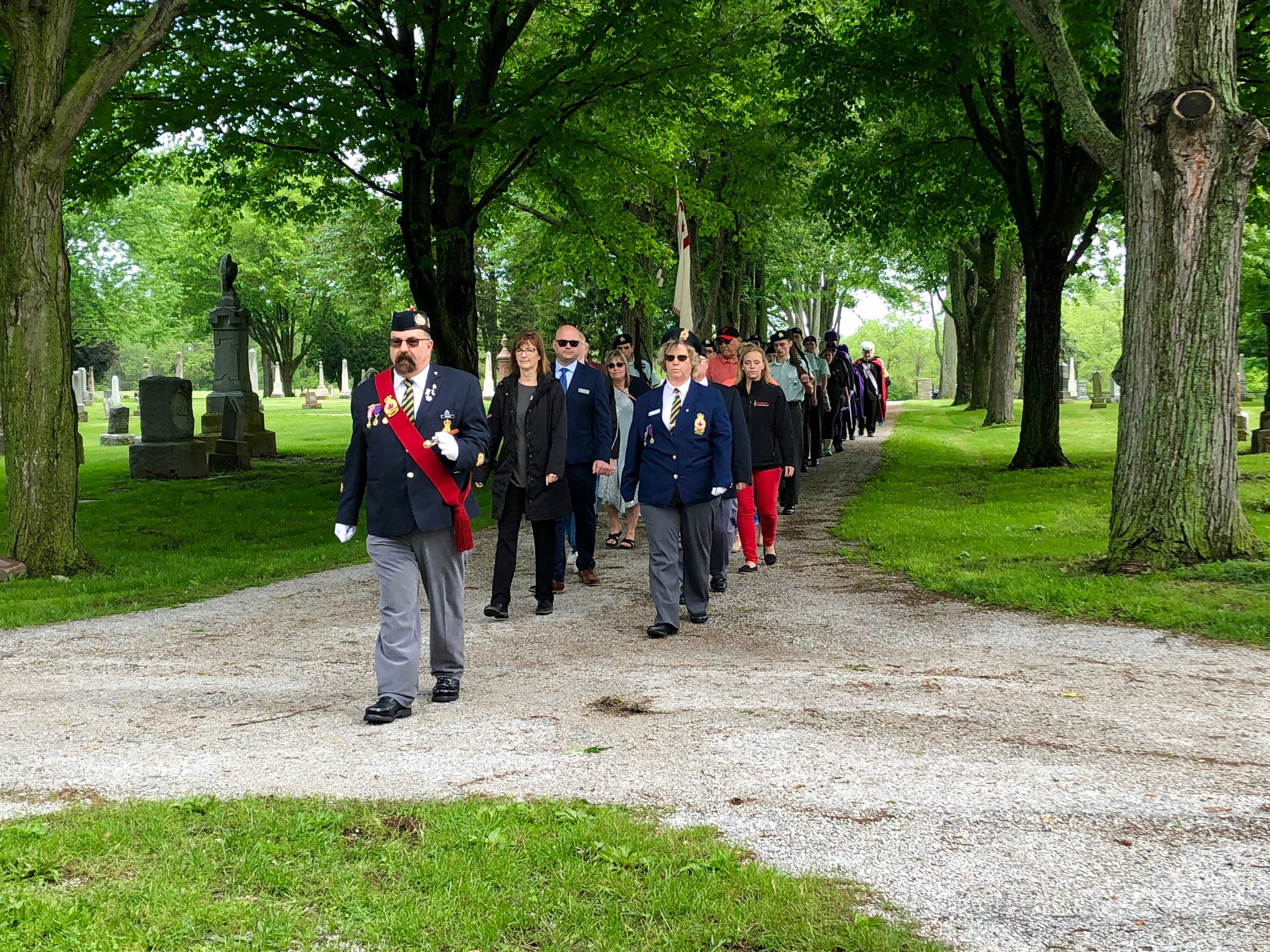 Fort Malden Cadets march