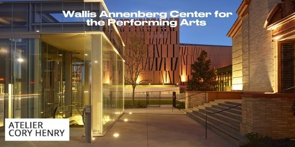 Graphic showing the Wallis Annenberg Center for the Performing Arts