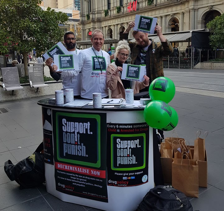 Support Don't Punish Street Stall