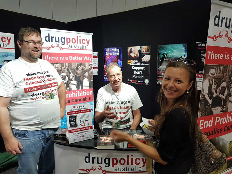 HHI Expo Stall Drug Policy Australia