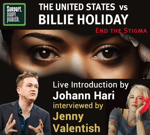 The United States vs Billie Holiday showing with introduction by Johann Hari