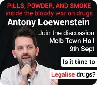 Pills Powder and Smoke Melbourne Launch Antony Loewenstein Sept 9