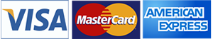 Visa, Master and American Express cards accepted