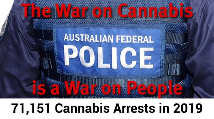 Cannabis Arrests in Australia