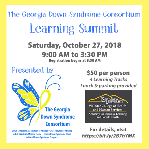 Georgia Down Syndrome Consortium Learning Summit