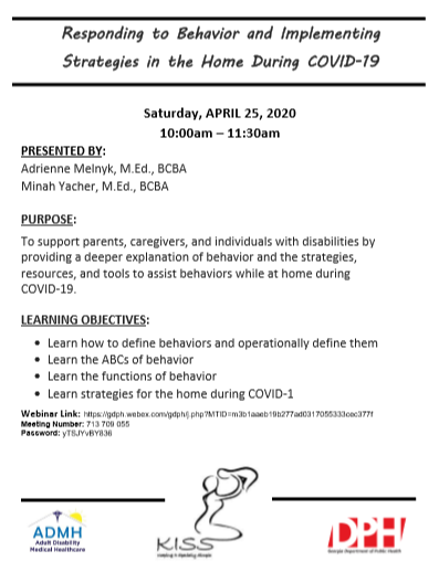 flyer for behavioral call