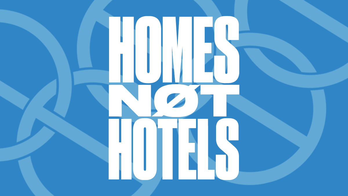 Homes Not Hotels logo