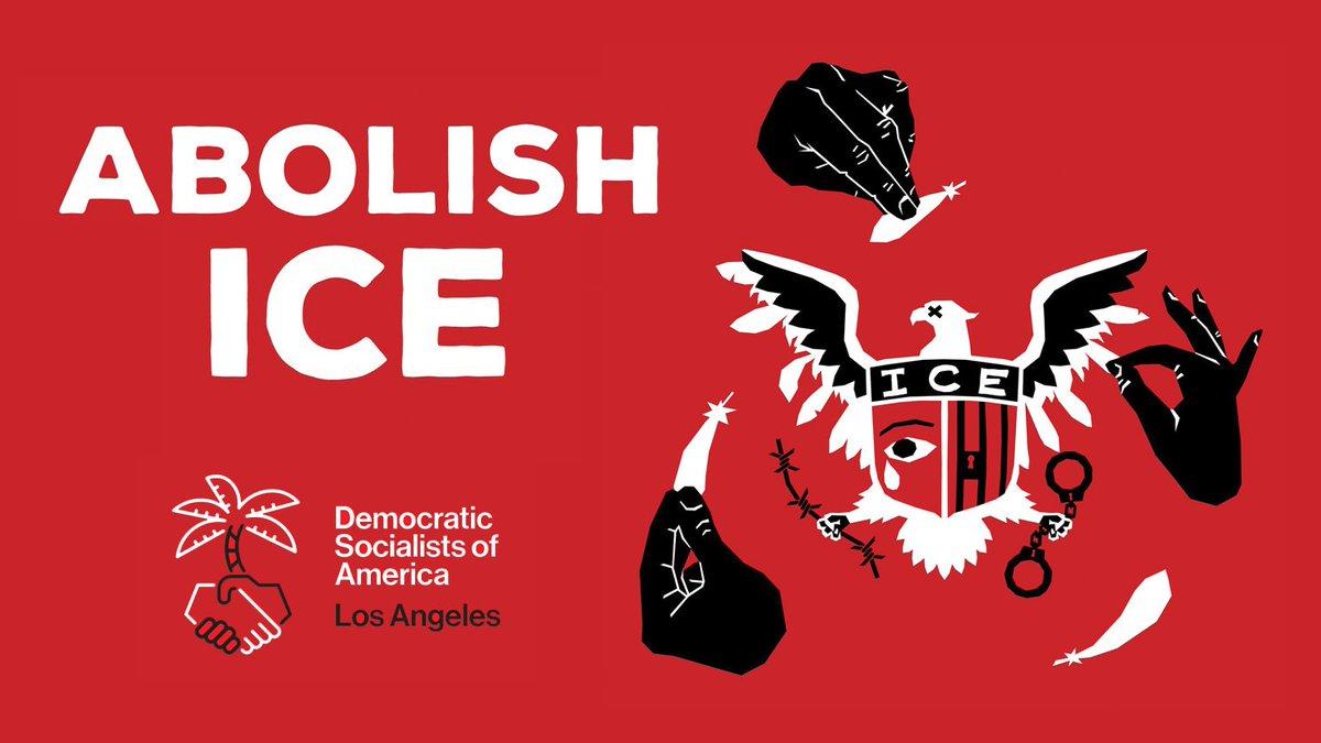 DSA-LA, Abolish ICE banner