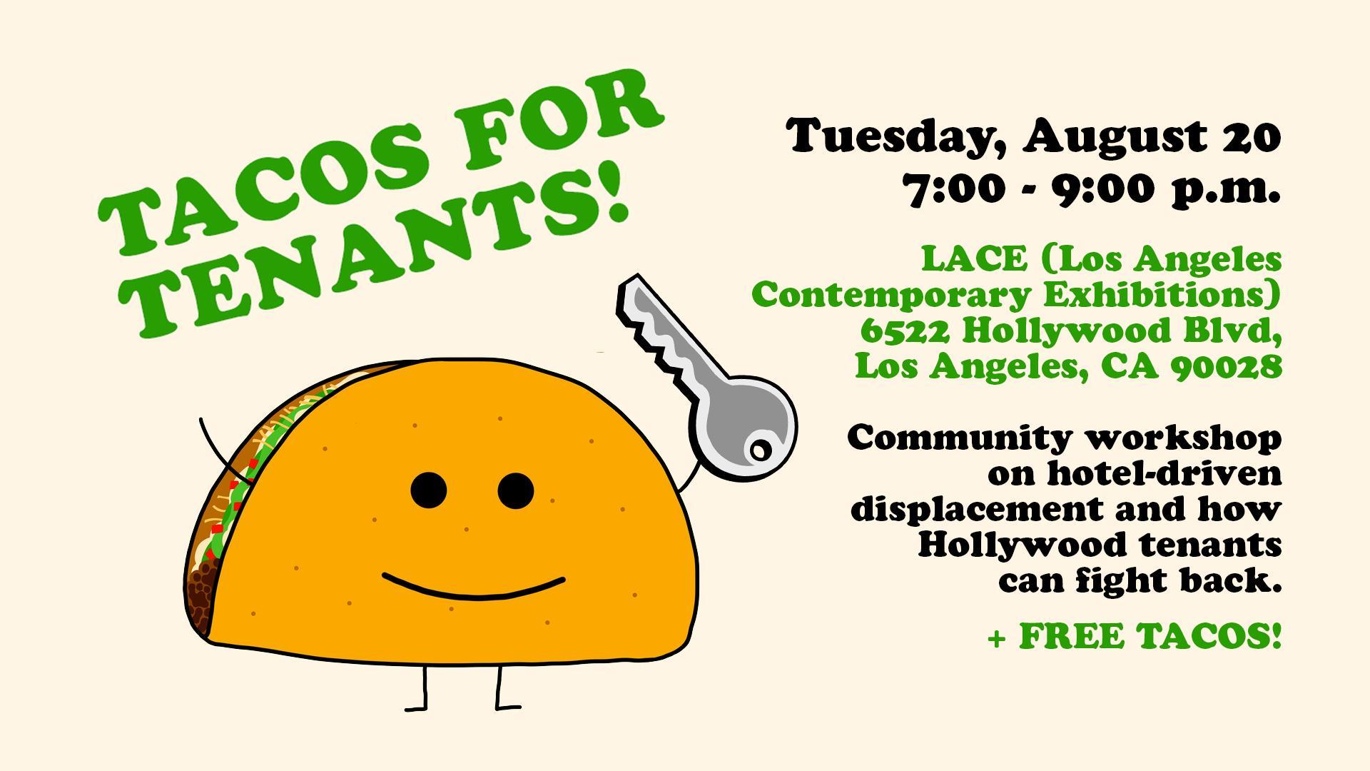 Taco for Tenants for NOlympics