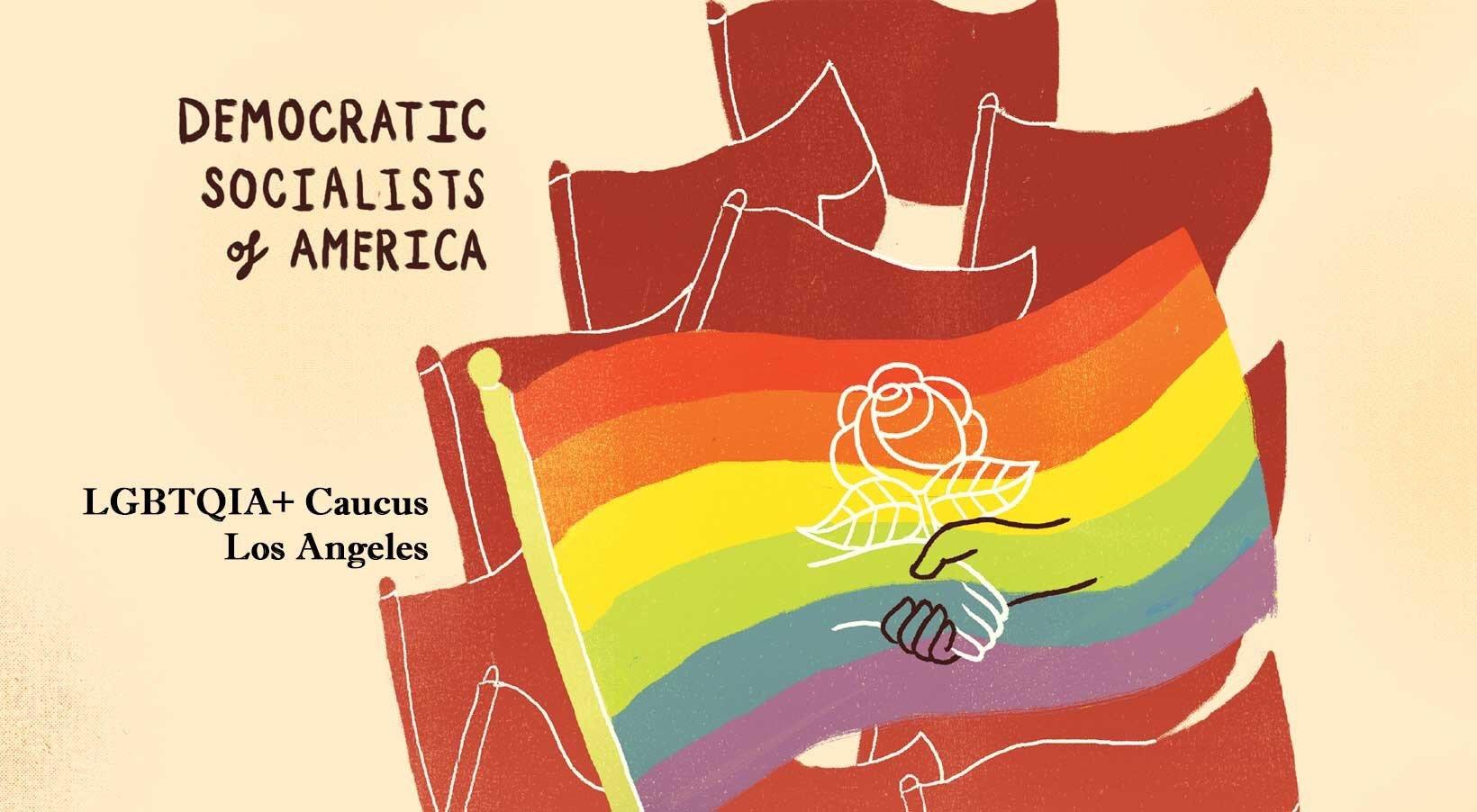 DSA-LA LGBTQ Caucus Logo