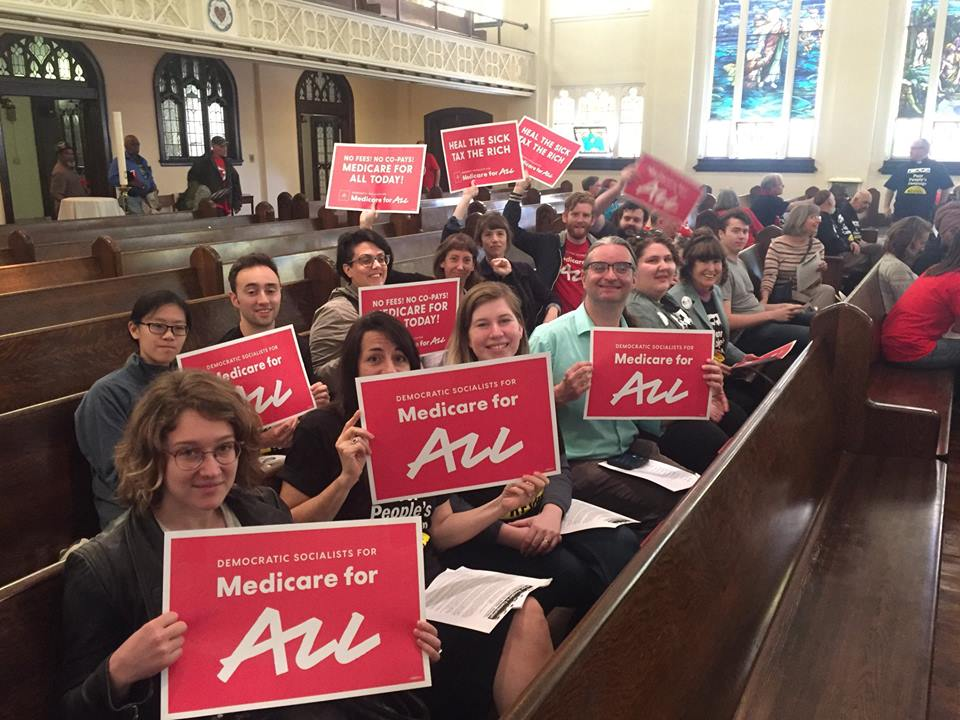 Philly DSA at the Poor People's Campaign Healthcare Day in Harrisburg, PA
