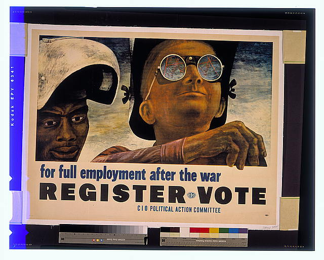 CIO poster 1944. (Wikimedia Commons).