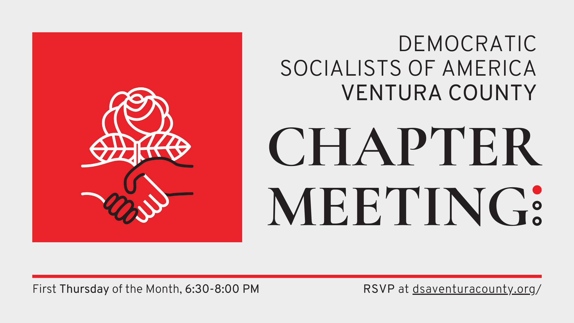 Monthly Chapter Meeting Web Banner
