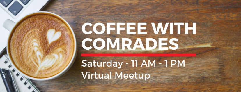 Coffee with Comrades Banner