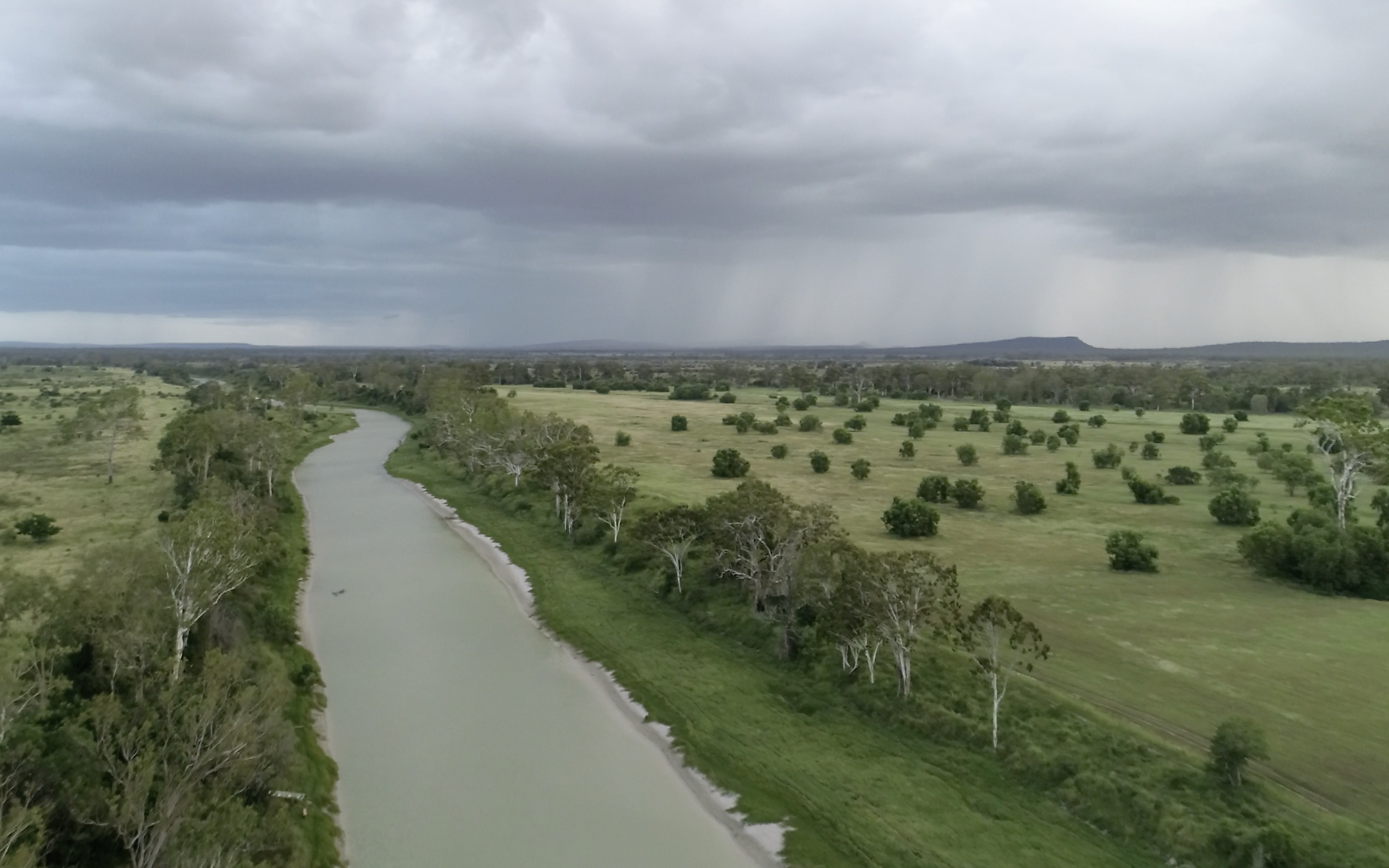 The tidal Styx River, which runs alongside the proposed Central Queensland Coal project