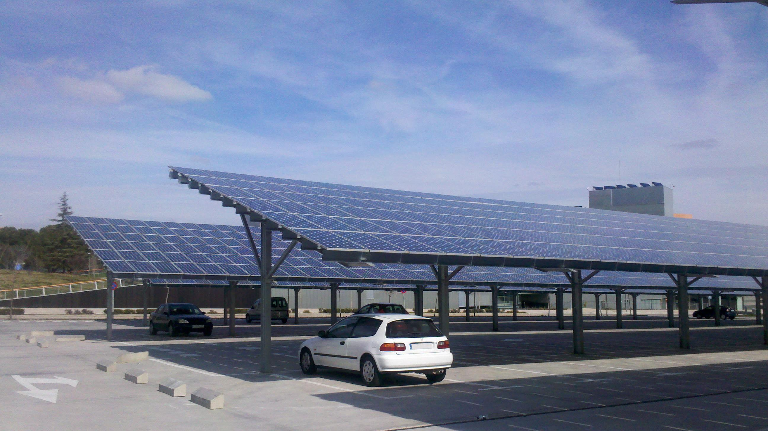 Multi-purpose solar car park in Spain.