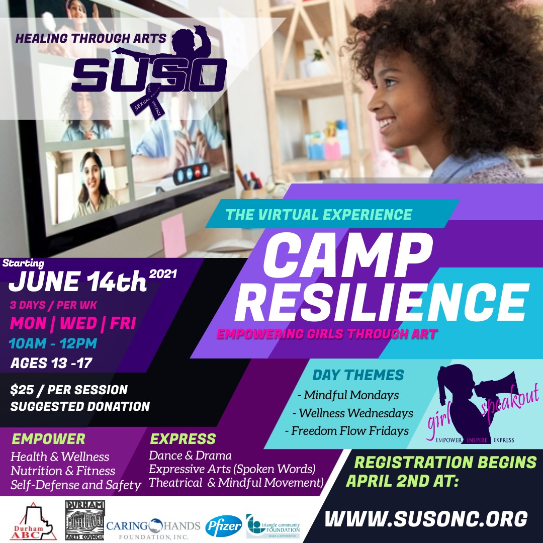 Camp Resilience graphic with text - starting Jun 14