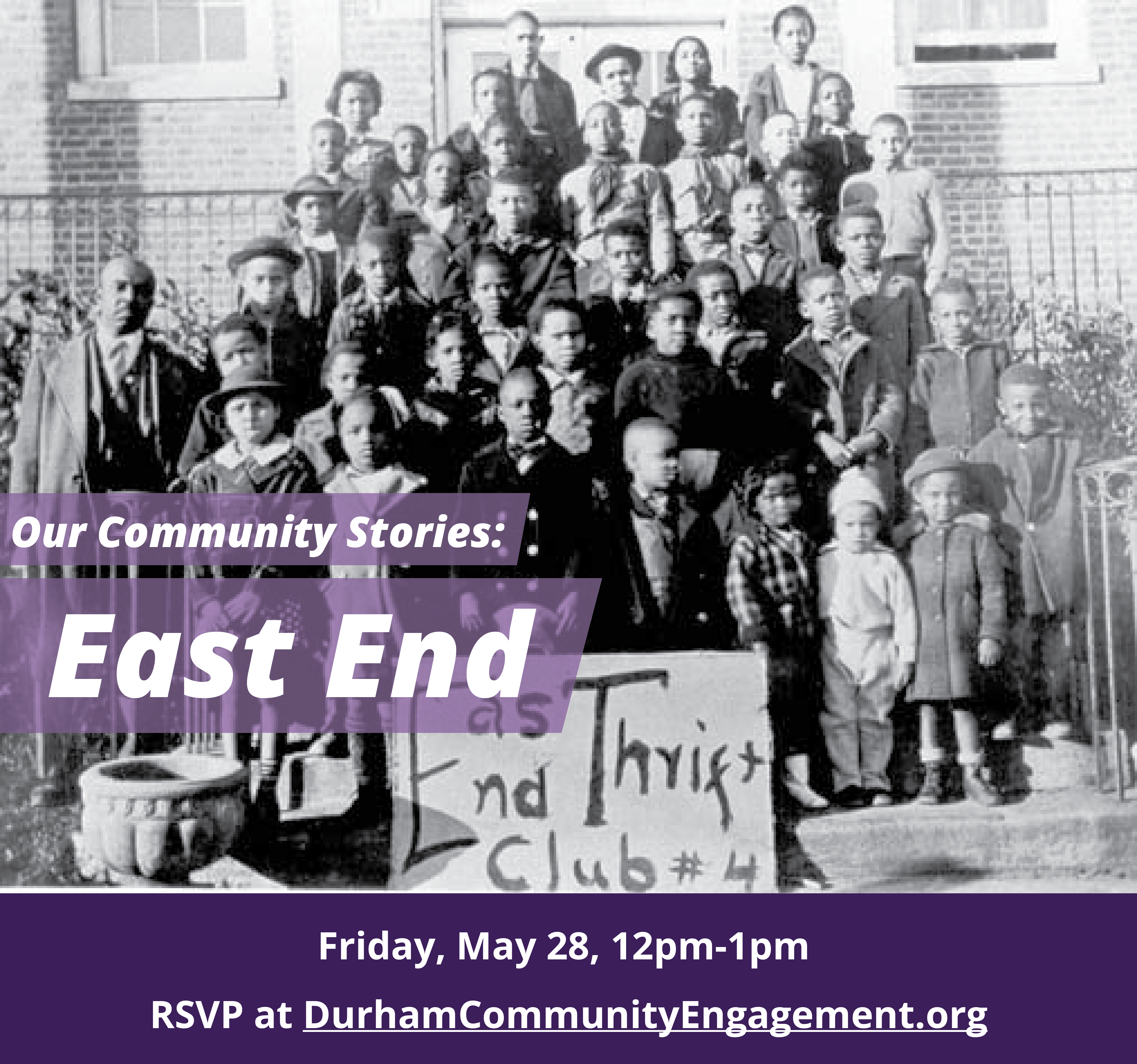 Our Community Stories: East End graphic