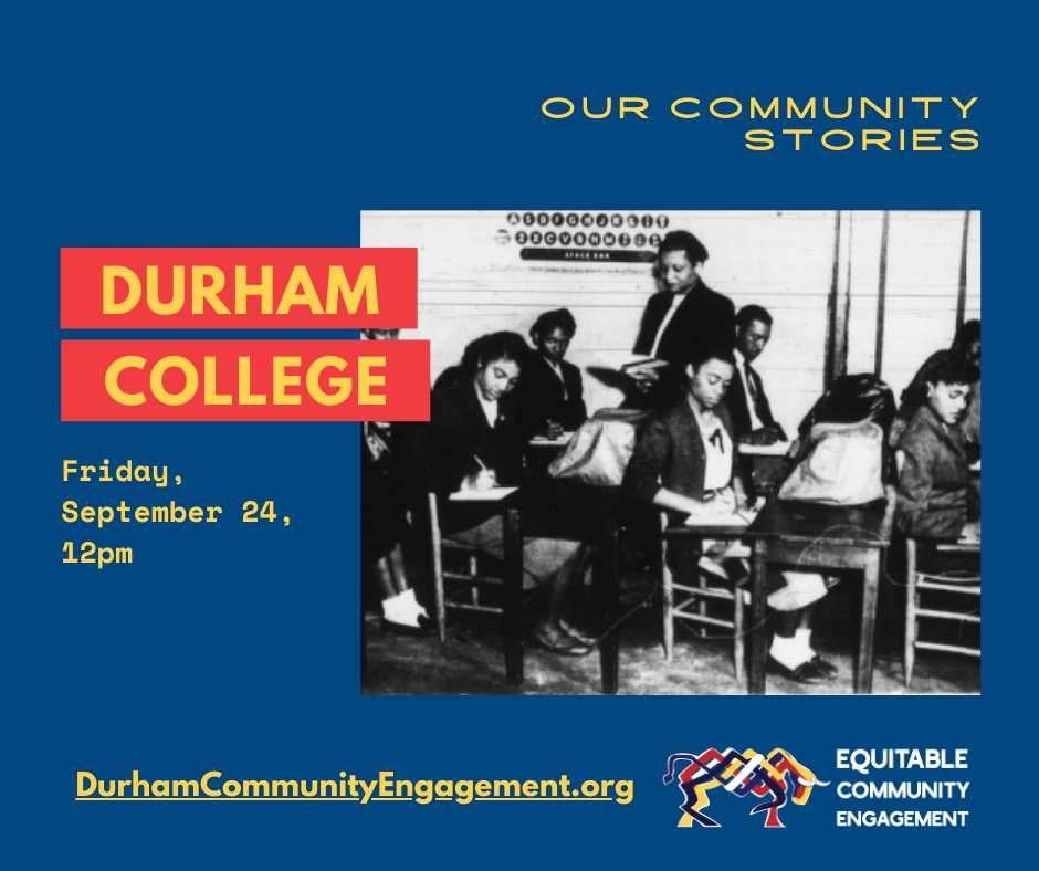 Our Community Stories event for Durham College in September 2021