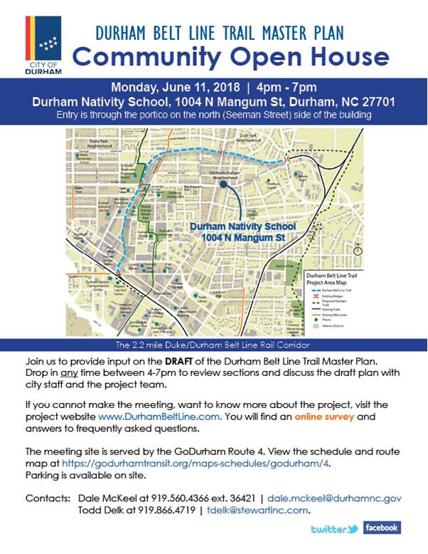 Durham Belt Line Trail Master Plan City Of Durham Nis Community