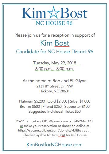 Kim Bost Fundraiser May 29