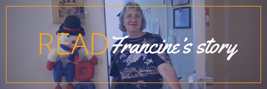 Read Francine's story on the DWC blog!