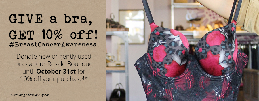 Give a bra, get 10% off!
