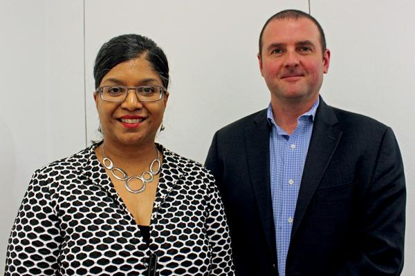 DWDC CEO Shanaaz Gokool and lawyer Sean Griffin