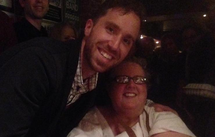 Donna with musician Peter Katz