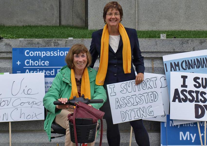 Linda Jarrett with DWD Canada CEO Wanda Morris