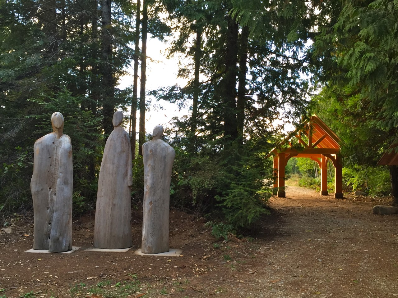 The entrance to Denman Island Natural Burial Cemetery