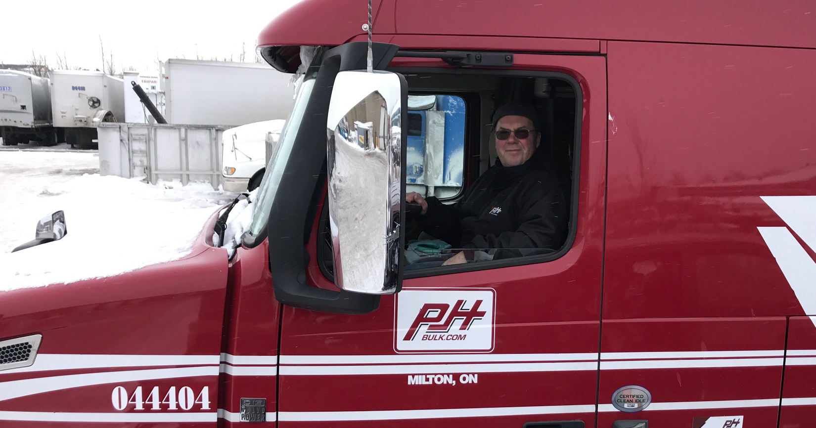 John on his last day in is big rig