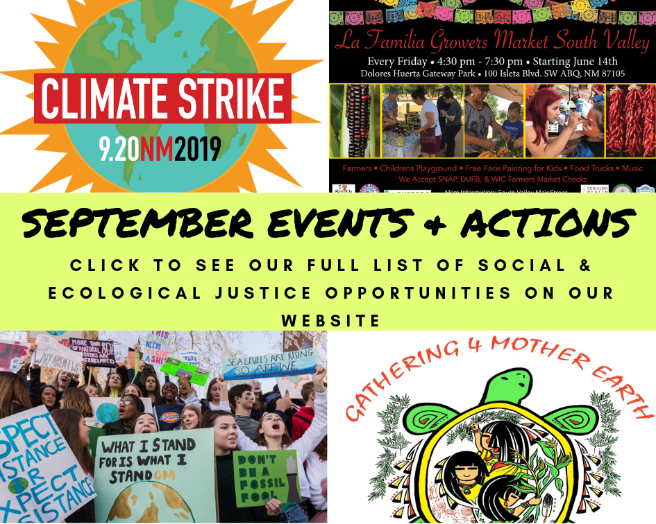 September Calls to Action! - Earth Care