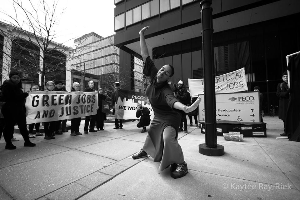 Lela Aisha Jones dances at the Day of Mourning